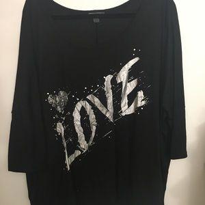 "NWOT ""Love"" plus size tee"